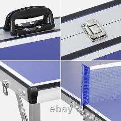 Table De Tennis Indoor Extérieur Ping Pong Sport Ping Pong Table Avec Filet Et Poteau