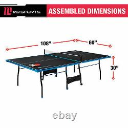 Table Officielle De Ping-pong De Tennis De Table À L'intérieur Avec Pagaie Et Boules 3 Couleurs