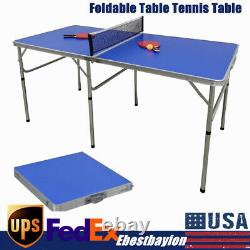 Table Ping Pong Pliable Avec Filet Intérieur De Tennis De Table Ping Pong Pliable