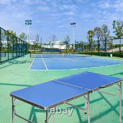 Table Pliable De Tennis De Table Table Extérieure / Intérieure Ping Pong Table Avec Raquettes Net