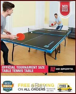 Table Pliante De Tennis De Table En Salle De Tennis, Taille Officielle, 2 Pagaies Et Balles Incluses