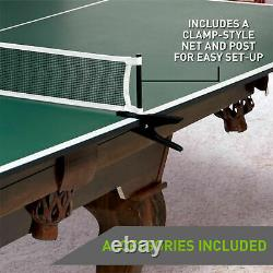 Table Tennis Conversion Top Ping Pong Official Assembled Pool Hockey Picnic Net