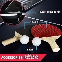 Taille Officielle Extérieure Tennis De Table Intérieur De Ping-pong 2 Raquettes Et Balles Inclus