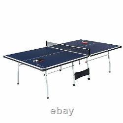 Taille Officielle Indoor Tennis Ping Pong Table 2 Pagaies Et Balles Incluses Nouveau