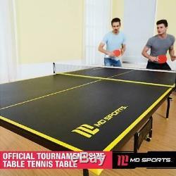 Taille Officielle Intérieure Tennis De Ping-pong 2 Raquettes Et Balles Inclus