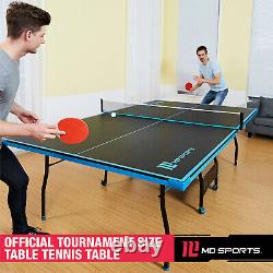 Taille Officielle Outdoor/indoor Tennis Ping Pong Table 2 Pagaies Et Balles Incluses