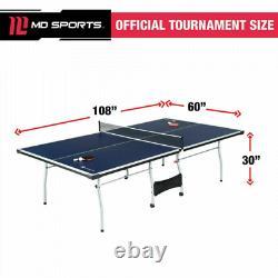 Taille Officielle Ping Pong Table Tennis Intérieur Pliable Paddles Balls Ensemble Inclus