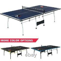 Taille Officielle Ping Pong Tennis Table Paddles Et Boules Pliables À L'intérieur Inclus