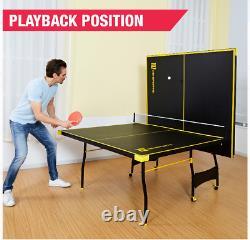 Taille Officielle Ping-pong De Tennis D'intérieur Table 2 Paddles Et Boules Inclus
