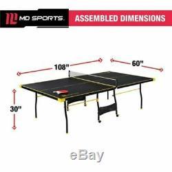 Taille Officielle Ping-pong Tennis De Table Pliante Lecture Jeu Set Intérieur Sport Set