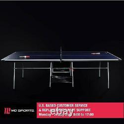 Taille Officielle Table Tennis Ping Pong Table Intérieure Avec Paddle Et Boules Couleur Bw