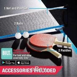 Taille Officielle Tennis De Table De Ping-pong Pliable Roulant Avec Paddle Et Boules