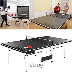 Taille Officielle Tennis De Table Ping Pong Salle De Jeu Intérieure À L'extérieur Avec Paddle & Balls
