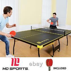 Taille Officielle Tennis Ping Pong Bureau Extérieur Intérieur Pliable Table MD Sports