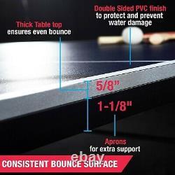 Taille Officielle Tennis Ping Pong Intérieur, Paddles Et Balles Inclus Table Pliable