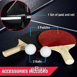 Taille Officielle Tennis Ping-pong Intérieur Sport Avec 2 Paddle, Balle, Post Net