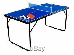 Tennis De Table De Ping-pong Pliante Portable Top Intérieur Extérieur Mini Board Game Sport