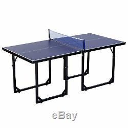 Tennis De Table De Taille Moyenne Compact Multi-usage Multi-usage De 6 X 3 Pieds Table De Ping-pong Pliable Gratuit