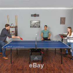 Tennis De Table Ping Pong Pliable Sport De Plein Air Jouer Jeu Amusant 15mm Haut 2 Pièces