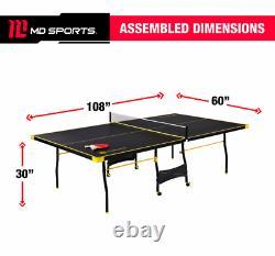 Tennis Ping Pong Sports De Table Taille Officielle Intérieur Extérieur 2 Paddles & Balles Nouveau