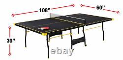 Tennis Ping Pong Sports De Table Taille Officielle Nouveau Intérieur Extérieur 2 Paddles & Balles