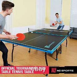 Tennis Ping Pong Table Sports Official Size Indoor Extérieur 2 Paddles & Balls Nouveau