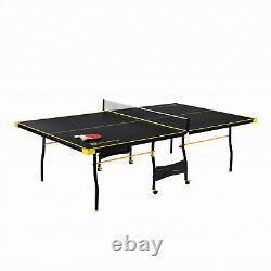 Tennis Ping Pong Taille Officielle Table Intérieur Paddles Pliables Post Balles Inclus