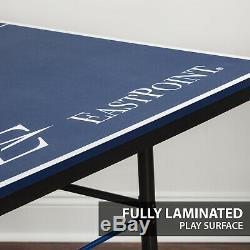 Tennis Table De Ping-pong Intérieur Pliable Sport Jouer Jeu Fun 18mm Top 2 Pièces