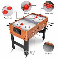 Tous Les Nouveaux 3-en-1 Combo Game Table Billiards Foosball Soccer Pool Slide Air Hockey