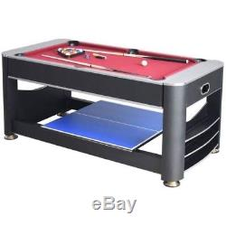 Triple Threat Ng5001 Tennis De Table Multi-jeux 3 En 3, Air Hockey, Billard
