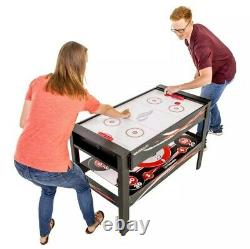 Triumph 4-en-1 Multigame Swivel Table Air Hockey, Billard, Tennis De Table Et Tir À L'arc