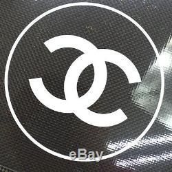 Ultra Rare! Authentique Chanel Tennis De Table Case Set Noir Ak17340c