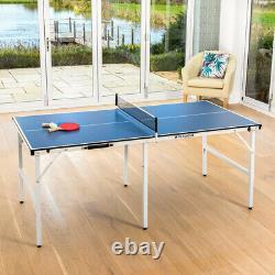 Vermont Pliage Mini Table De Tennis De Table Bats & Balls Inclus Fast Assembly