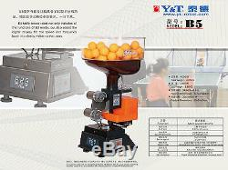 Y & T Table De Ping De La Machine À Billes De Tennis Robot De La Télécommande B5, 2 Roues, Affichage Numérique
