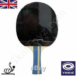 Yinhe (voie Lactée) Tennis De Table Chauve-souris Et Etui Ittf Modèle Caoutchoucs 05b